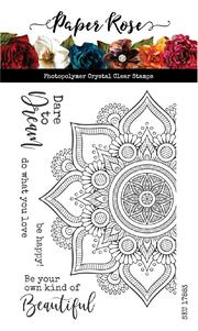 Paper Rose Stamps - Beautiful Mandala