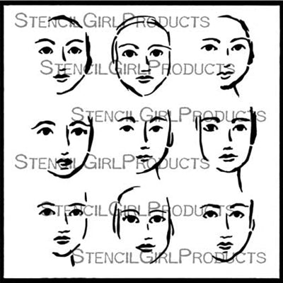 Stencil Girl - Faces in the Crowd