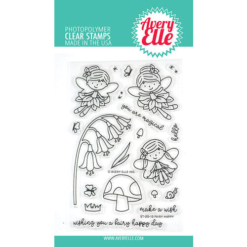 Avery Elle Clear Photopolymer Stamps - Fairy Happy