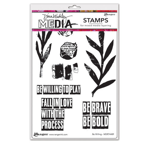 Dina Wakley Media Stamp Be Willing