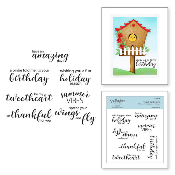 SPELLBINDERS - Tweet Sentiments Clear Stamps by Vicky Papaioannou