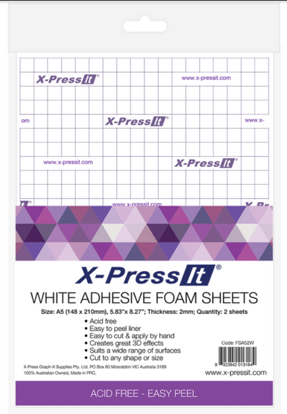 X-Press It - Foam Mounting Sheet Black A5