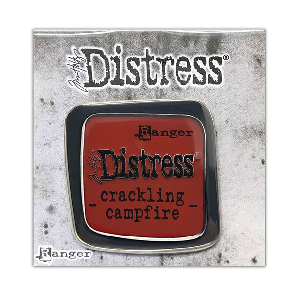 Tim Holtz Distress® Crackling Campfire Enamel Pin