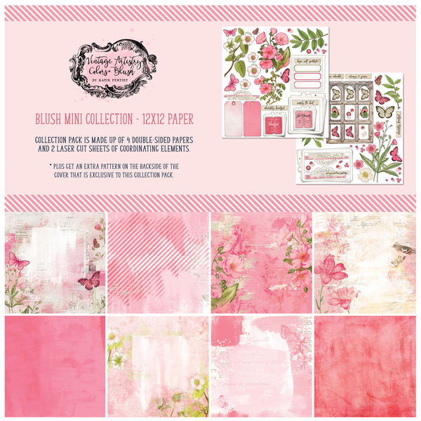 49 and Market Vintage Artistry Blush 12×12 Collection Pack