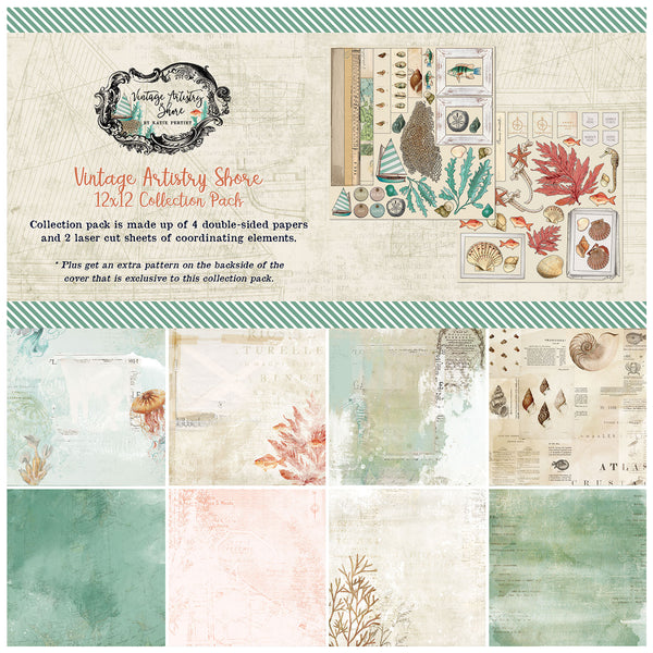 49 and Market Vintage Artistry Shore 12×12 Collection Pack