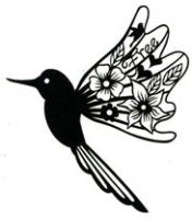 Scrap FX Blooming Bird Silhouette