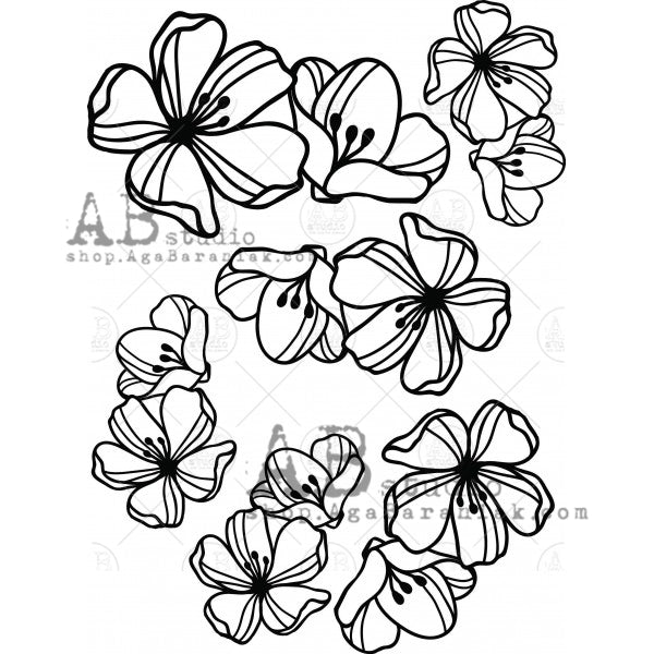 AB Studio - Chipboard A4 Flowers -id-181