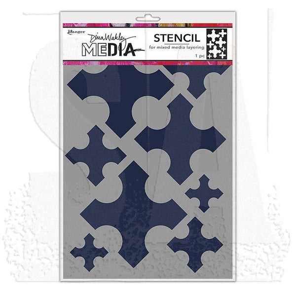 Dina Wakley Media Stencils - Large Medieval Crosses
