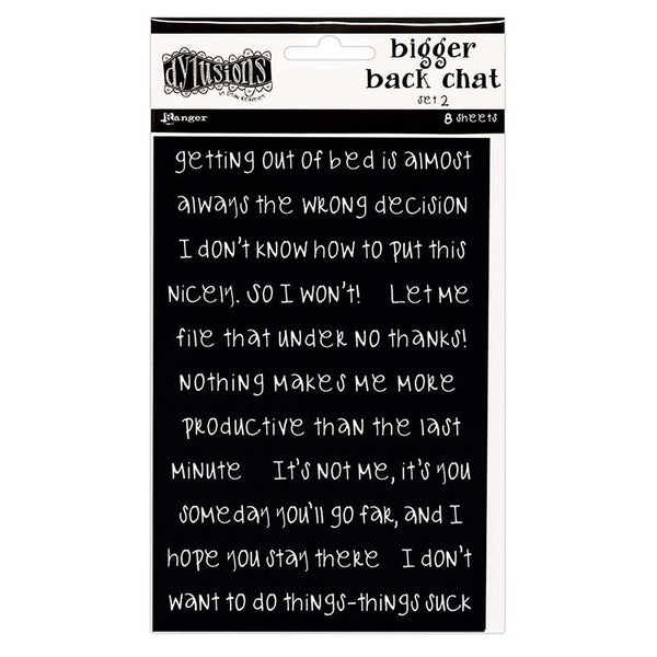 Dylusions Bigger Back Chat Stickers Black Set #2
