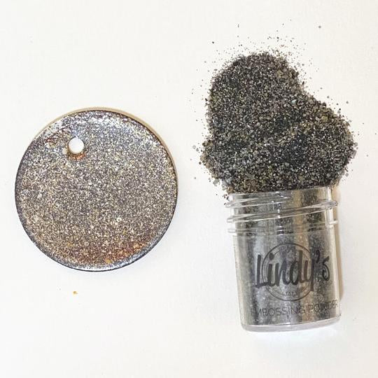 Lindy's Gang Embossing Powders - Chip Off the Old Black Chunky EP