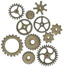 ScrapFX Cogs Chipboard