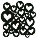 ScrapFX  Heart Spangles stamps
