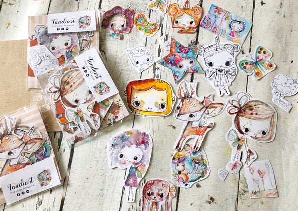 TandiArt Sticker - Fairy Pack 10