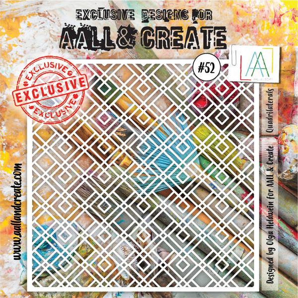 Aall & Create Stencil #52 Quadrilaterals