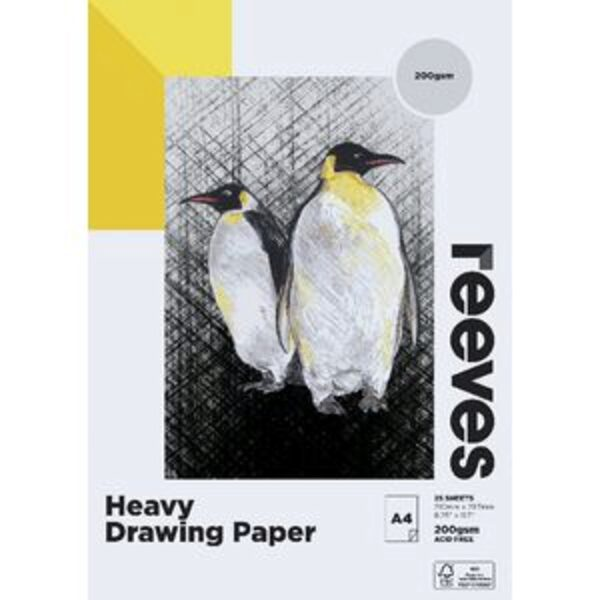 Reeves Heavy Drawing Pad 200gsm 25 Sheets A4