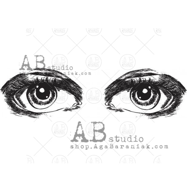 AB Studio Stamp - Eyes - Id-703