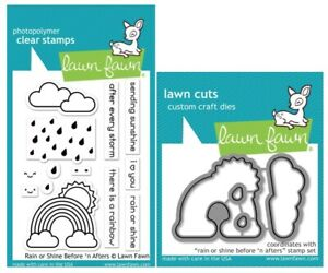 Lawn Fawn Clear Stamps & Dies Sets - Rain or Shine Before 'n Afters
