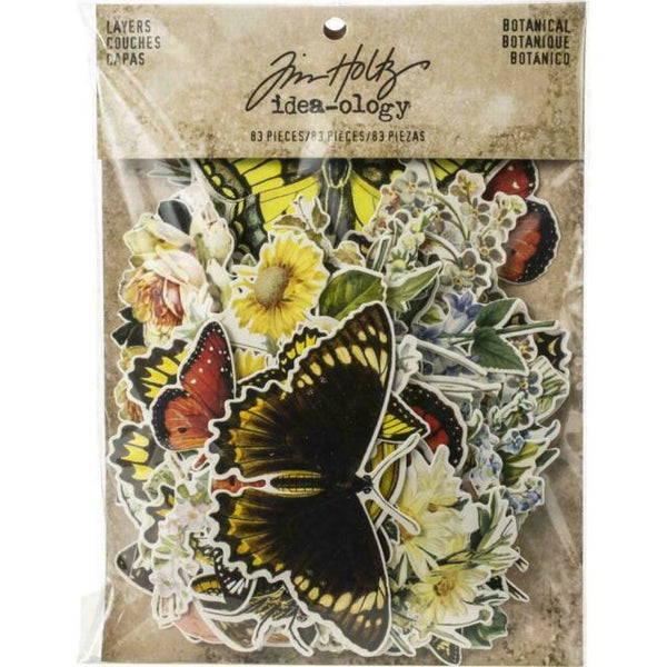 Tim Holtz Idea-Ology Layers Die-Cuts 83 Pack Botanical