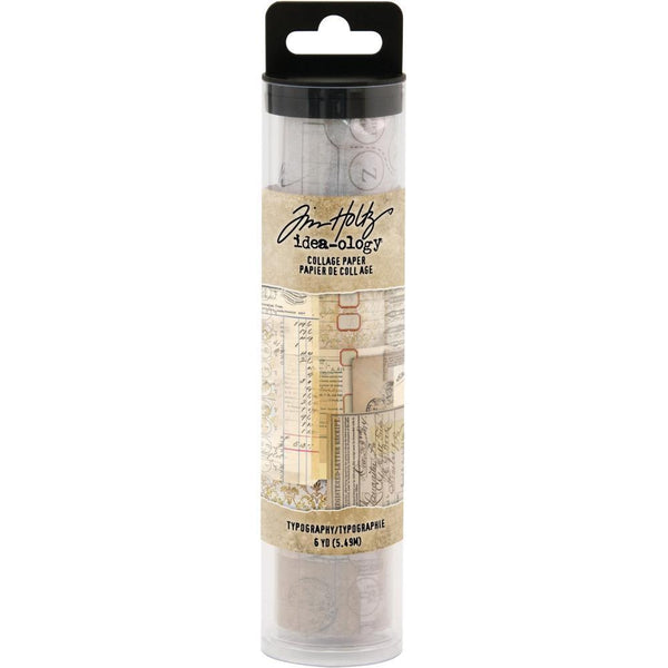 Tim Holtz Idea-Ology Collage Paper 6 Inch X6yds Typography