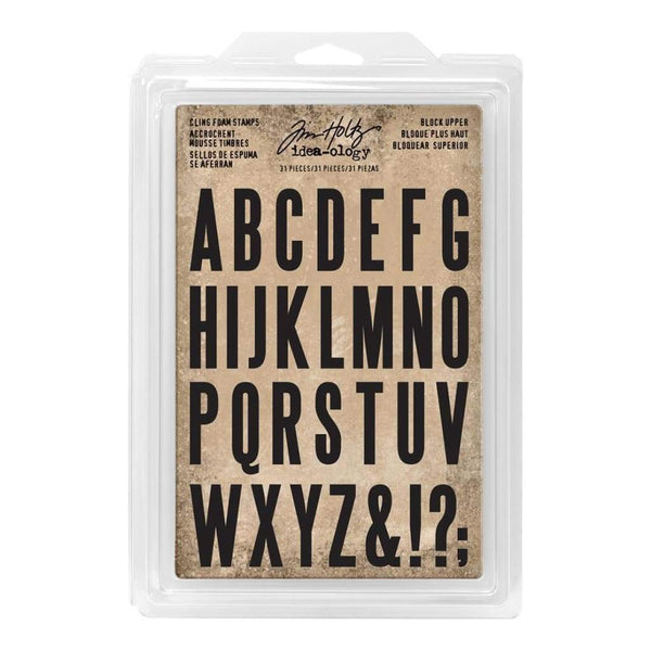Tim Holtz Idea-Ology Cling Foam Stamps Uppercase
