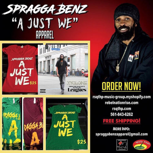 Spragga Benz tshirts + Xyclone CD