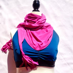 upf 50 sun protection scarf and swimwear