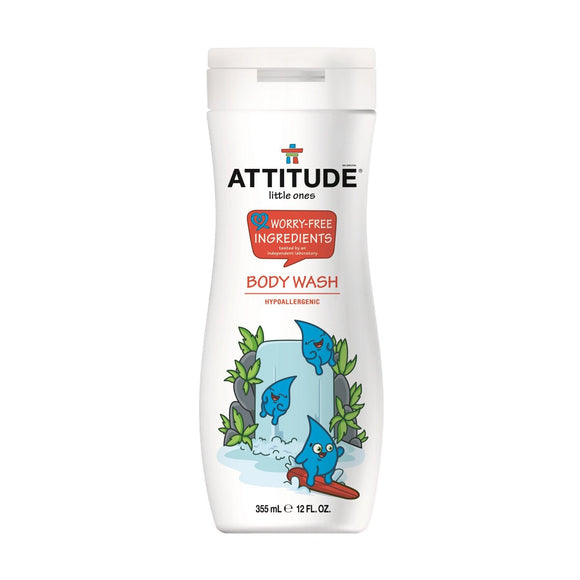 Attitude Little Ones Worry-Free Ingredients Body Wash 12oz - fifibaby