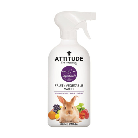 Attitude Fruit & Vegetable Wash Fragrance Free 800ml
