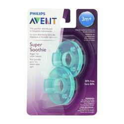 Philips AVENT 2 Pack Super Soothie 3M+ Pacifier