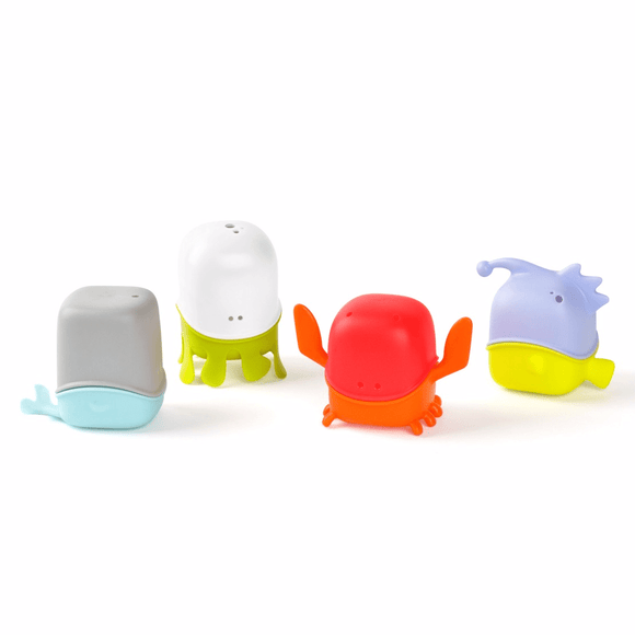 Boon CREATURES Interchangeable Bath Toy Cup Set - fifibaby