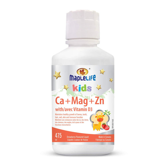 MapleLife Calcium Magnesium and Zinc + Vitamin D for Kids 475mL