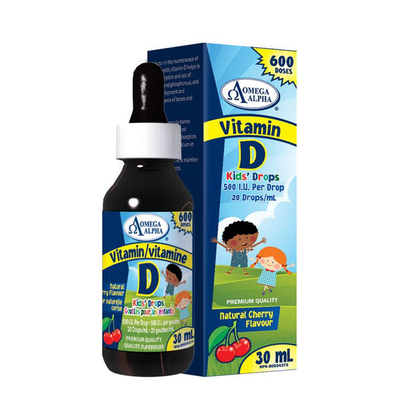 Omega Alpha Vitamin D Kids' Drops 500IU 30ml