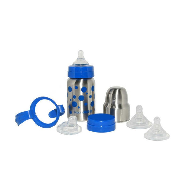 OrganicKidz Baby Grows Up Stainless Steel Bottle Set 9oz - fifibaby