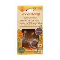OrganicKidz Narrow Necked Baby Bottle Nipples