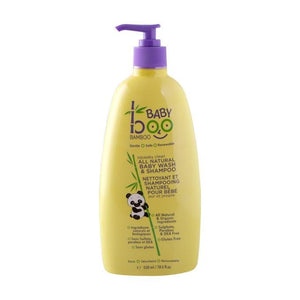 Boo Bamboo Squeaky Clean All Natural Baby Wash & Shampoo 550ml - fifibaby