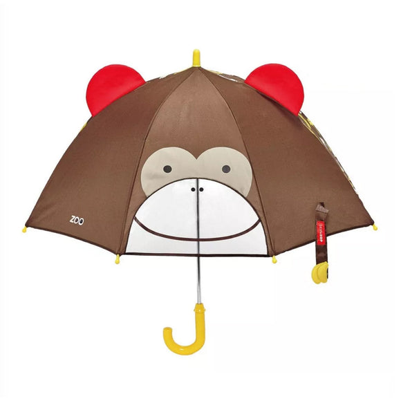 Skip Hop Zoobrella Little Kid Umbrella - Monkey - fifibaby
