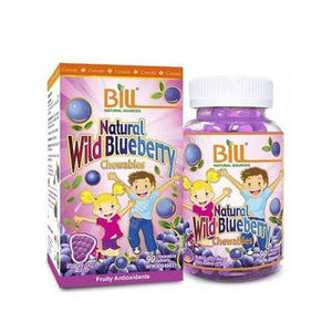 Bill Natural Wild Blueberry 90 Chewable Tablets - fifibaby