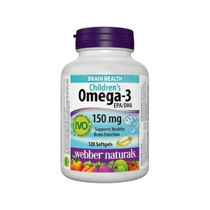 Webber Naturals Children's Omega-3 150mg 120 Softgels
