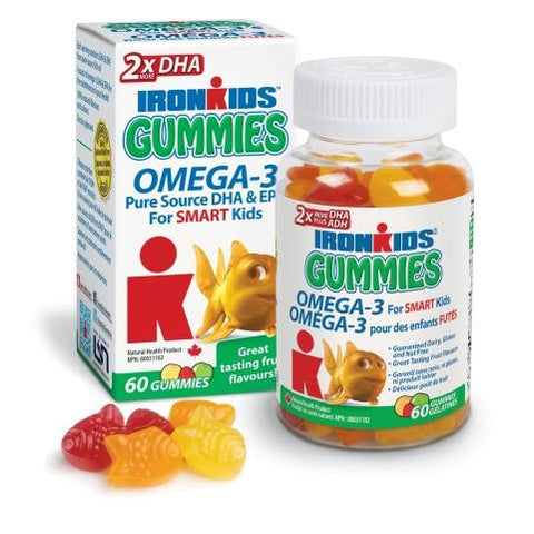 Ironkids Omega 3 Gummies for Kids 60s