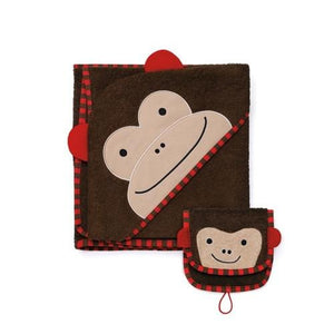 Skip Hop Zoo Hooded Towel and Mitt Set - Monkey - fifibaby