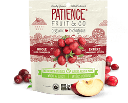 Patience Fruit & Co Organic Whole Dried Cranberries