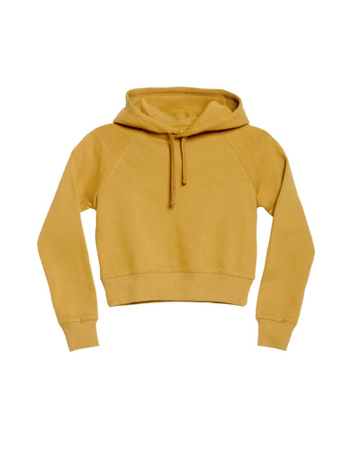 The Crop Hoodie in Mustard - x karla - x - karla - fashion - style - karla welch -