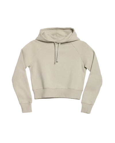The Crop Hoodie in Stone Grey - x karla - x - karla - fashion - style - karla welch -