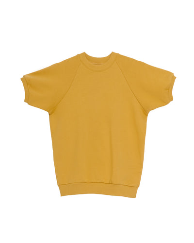 The Short Sleeve Sweatshirt in Mustard - x karla - x - karla - fashion - style - karla welch -
