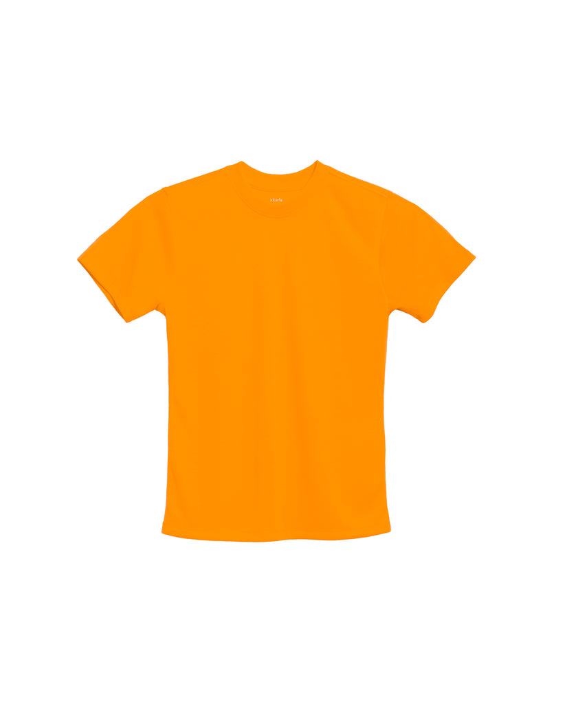 xkarla crew t-shirt neon collection orange top 1