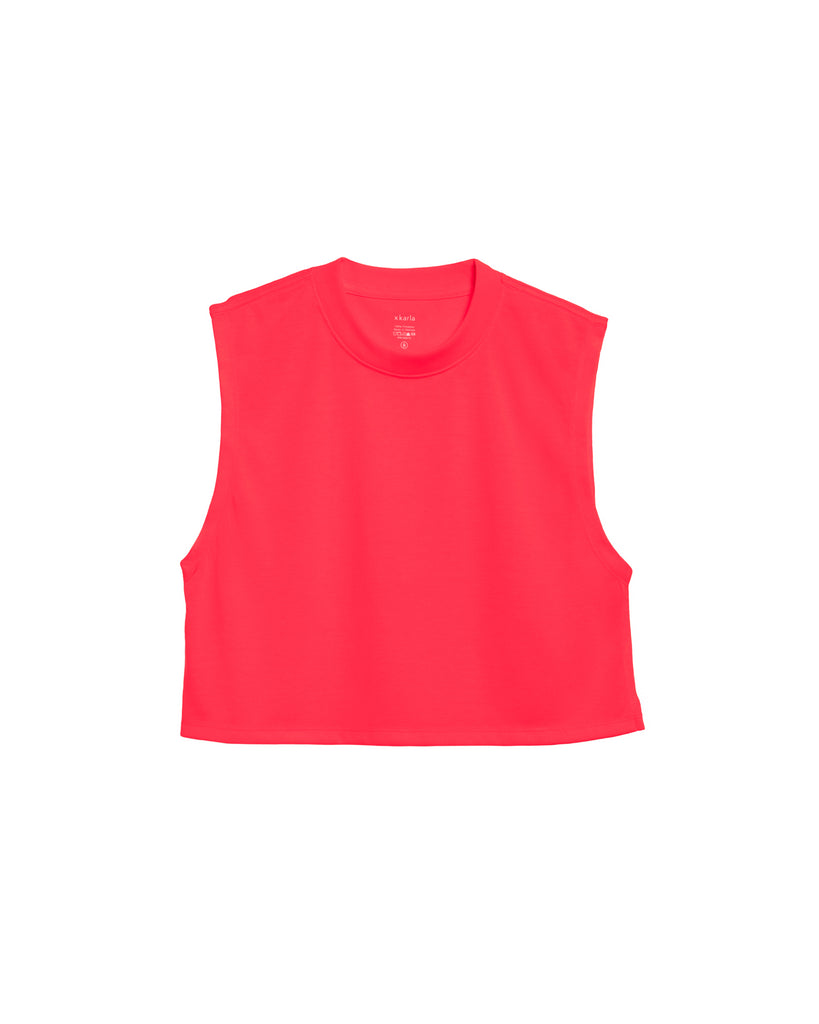 xkarla sleeveless crop t-shirt neon collection pink top 1