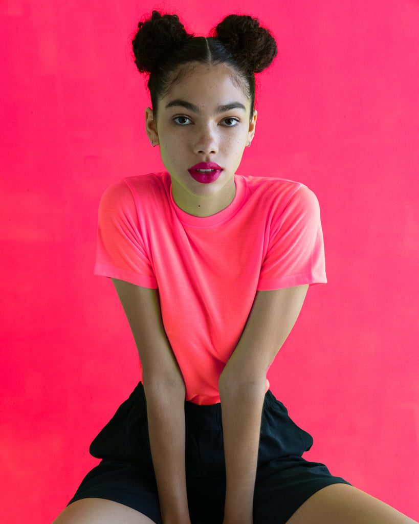 xkarla crew t-shirt neon collection top 2