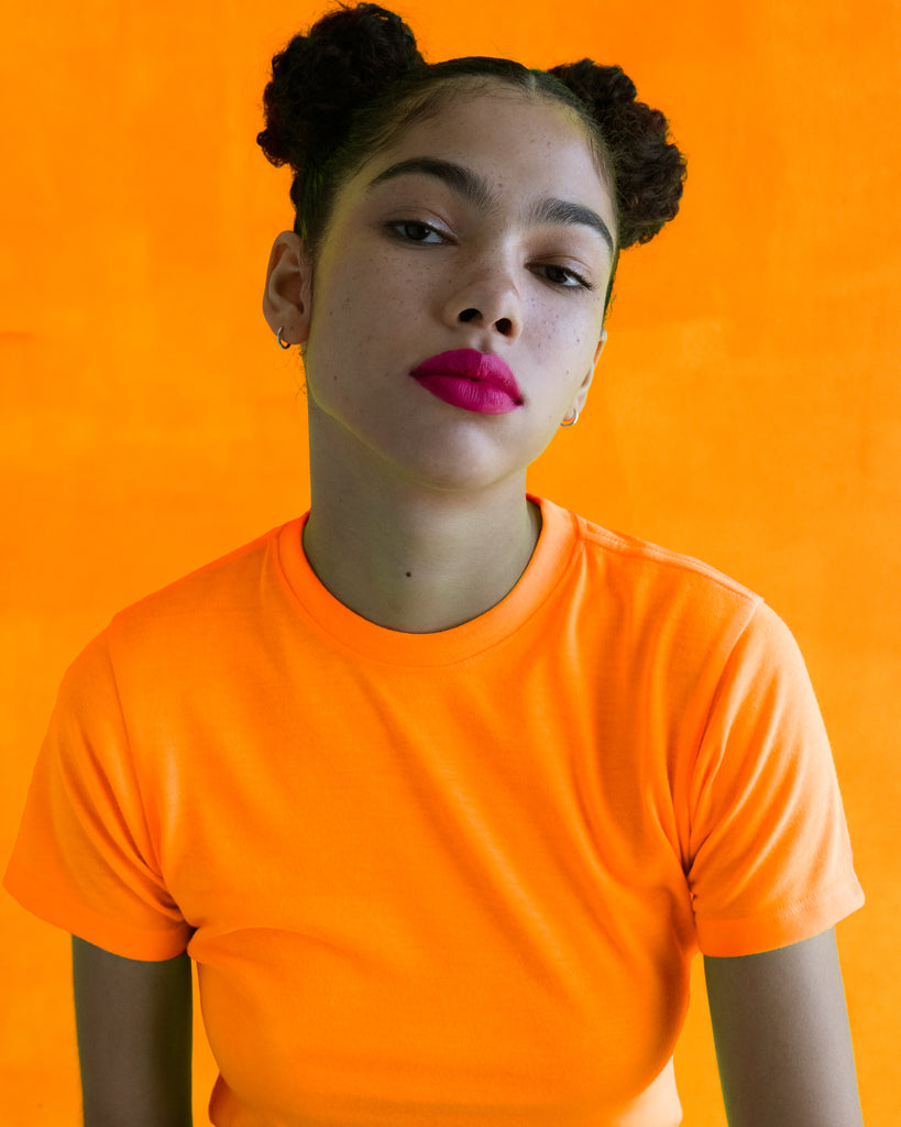 xkarla baby t-shirt neon collection orange top 1