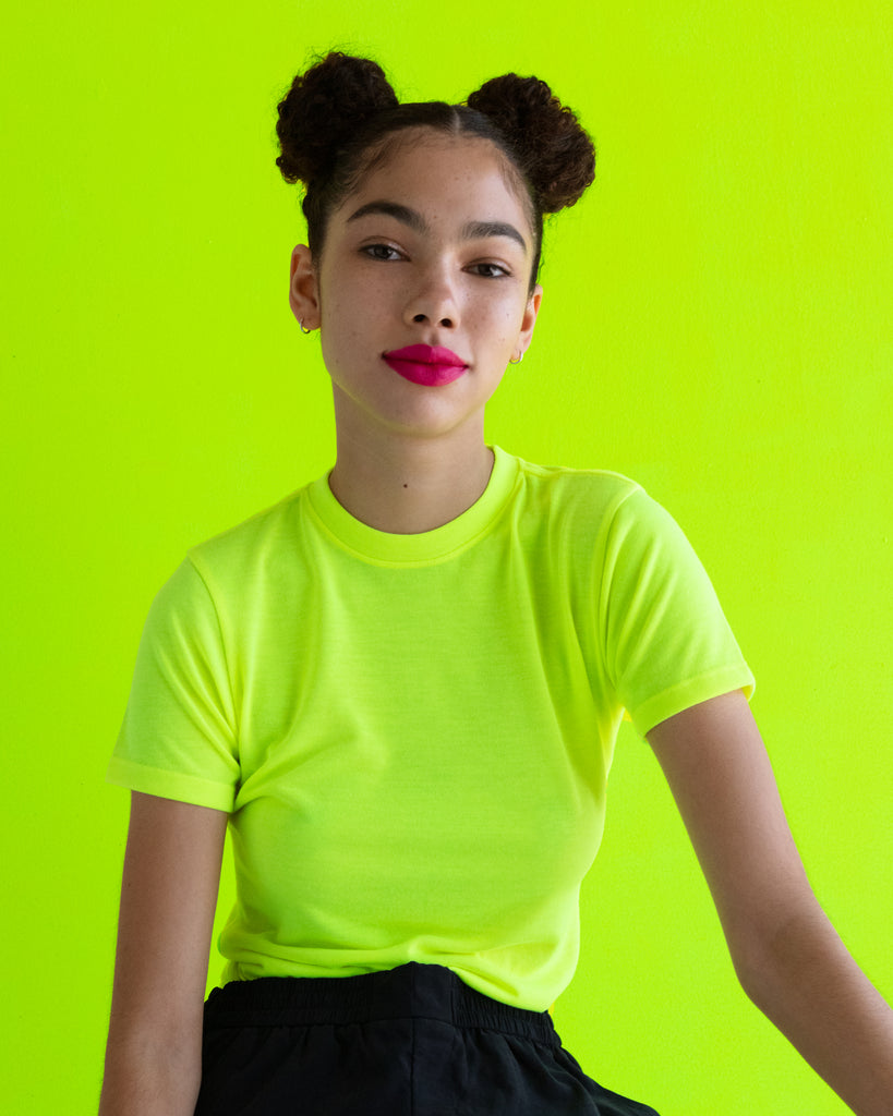 xkarla crew t-shirt neon collection yellow top 2