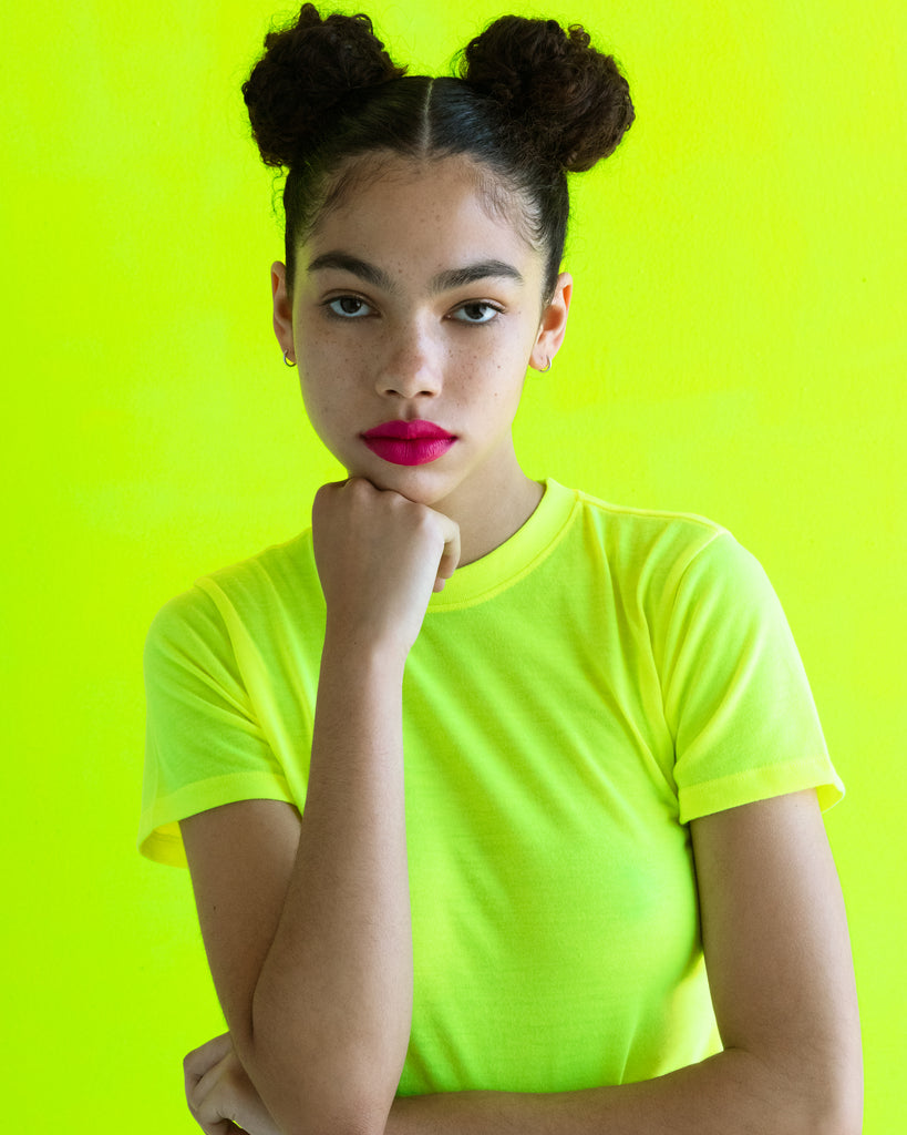 The Neon Baby in Highlighter Yellow - x karla - x - karla - fashion - style - karla welch -